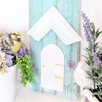 DIY Birdhouse Inspired Yard  Art using an Old Ornate Frame