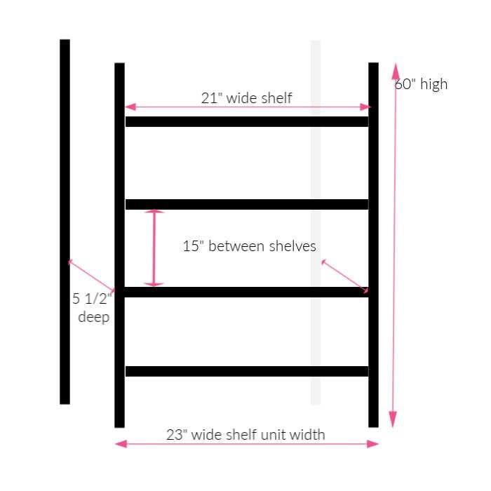 DIY custom shelves for holding cleaners.