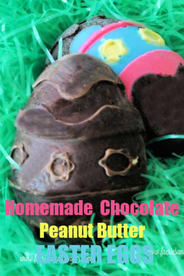 Homemade Chocolate Peanut Butter Easter Eggs