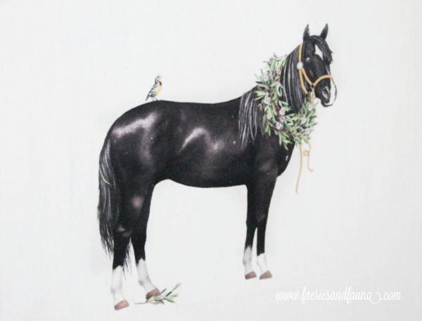 Horse motif for DIY farmhouse decor idea