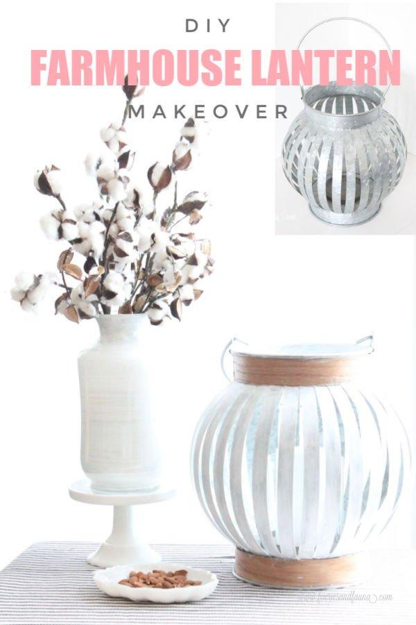 How to makeover a plain lantern into a beautiful farmhouse lantern.