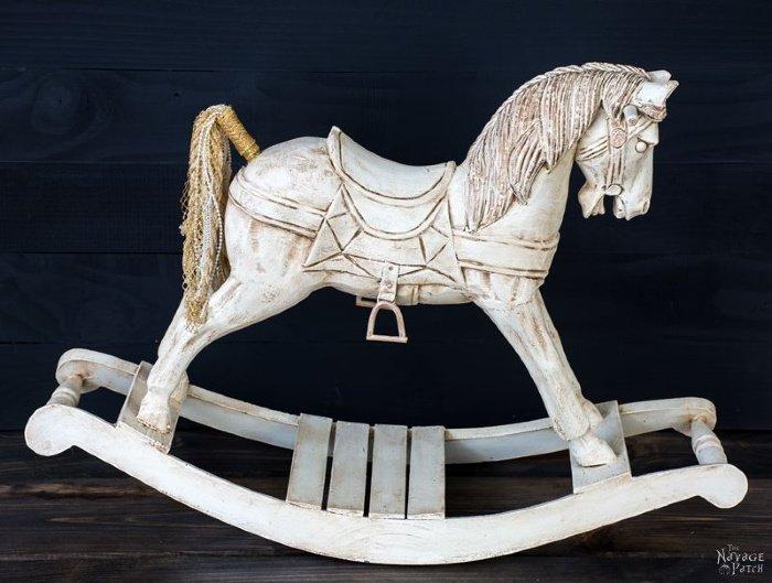 Rocking Horse makeover for Christmas decor.