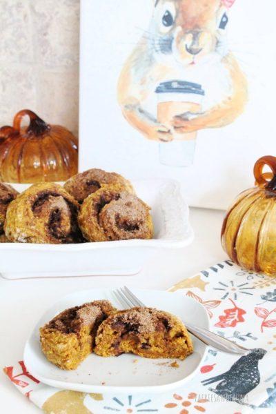 A Fall Pumpkin scone recipe with cinnamon