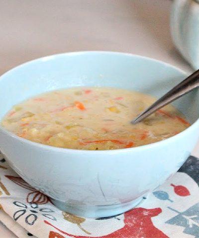 Easy chicken noodle and creamy corn soup recipe.