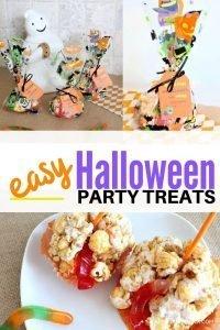 Easy Halloween Treats for Kids parties or Halloween school parties
