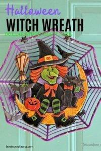 A DIY Halloween wreath an easy dollar store craft for Halloween