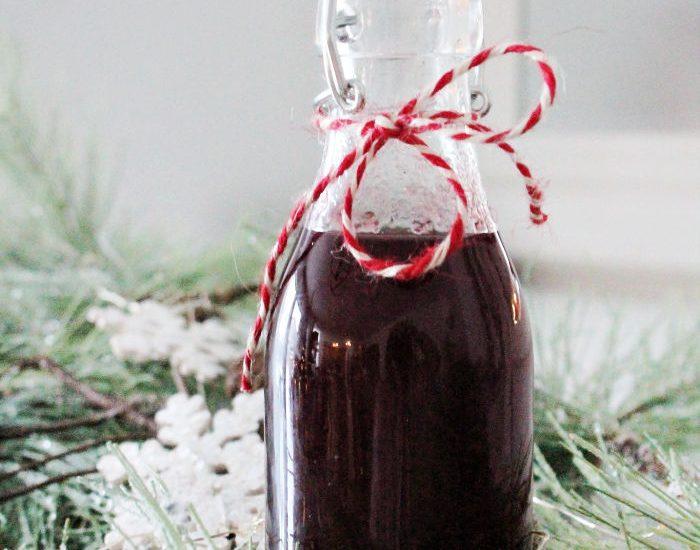 Homemade Cranberry Syrup recipe a make ahead Christmas recipe.