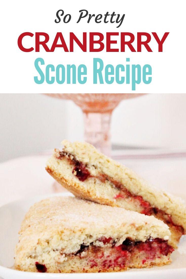 From scratch all natural cranberry scone recipe.