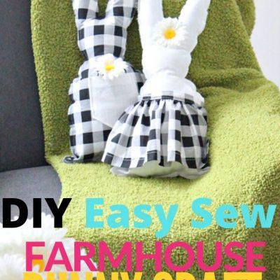 DIY Stuffed Buffalo Check Easter Bunny Craft