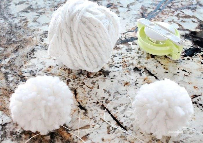 How to make a pom pom to use as a tail on a DIY fabric bunny craft.