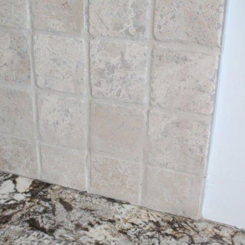 Fitting tile edging into back splash tiles