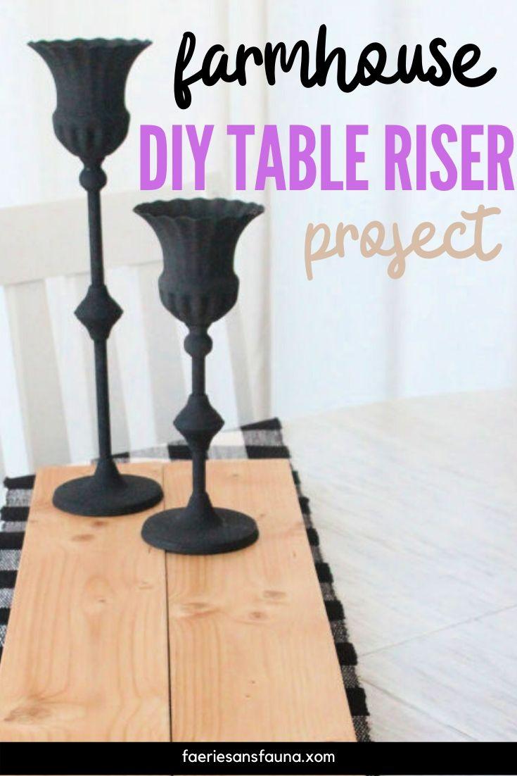 Handmade natural wood coloured table riser