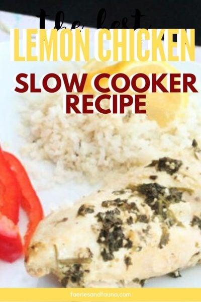 Easy slow cooker chicken recipe. From scratch lemon chicken.