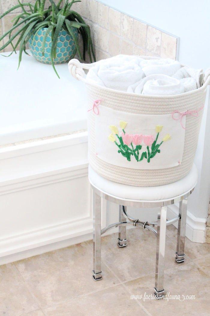 Tile around Jacuzzi tub.